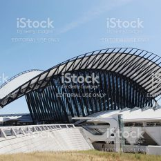 Lyon, France- June 21, 2014 Railway station connected to Saint Exupery airport in Lyon